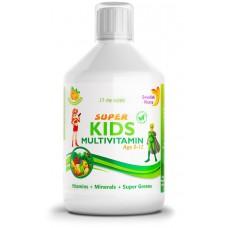 Супер Кидс детски мултивитамини (5-12 год.) витамини + минерали + зелена смес