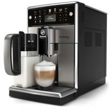 Philips автоматична еспресо машина Saeco PicoBaristo Deluxe 12 напитки, Вградена първокласна кана за мляко, Предна част с цвят Piano Black, 12-степенна регулируема мелачка