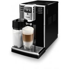 Philips Aвтоматична кафемашина Series 5000, 5 напитки, Вградена кана за мляко, PianoBlack, AquaClean