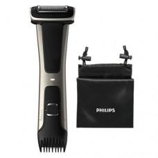 Philips Водоустойчив тример за тяло Series 7000, Самобръсначка, следваща 4D контур, Вграден тример (3 – 11 мм), 80 мин време на работа, 1 час зареждане