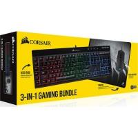 Геймърски комплект Corsair 3-in-1 Bundle, K55 RGB Keyboard, M55 RGB PRO Mouse, MM300 Cloth Mousepad–Medium