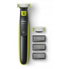 Philips OneBlade Уред за подстригване, оформяне, бръснене, За всякаква дължина на косъма, 3 гребена, с щракване, С презареждане, за сухо и мокро